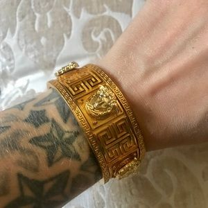 Versace Jewelry - Authentic Versace Gold Cuff Bangle Bracelet